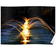 Fountains at night Poster