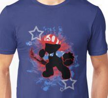 Super Smash Bros. American Mario Silhouette Unisex T-Shirt