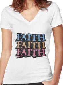 Faith Women's Fitted V-Neck T-Shirt