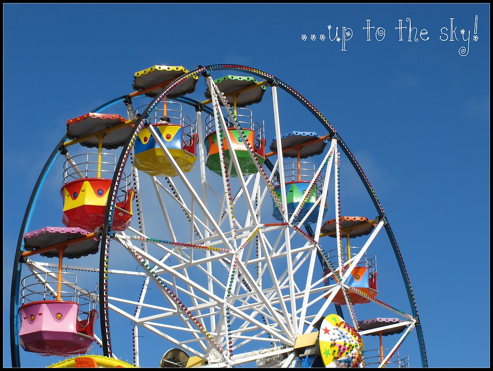 Up to the sky! -Big Wheel, Scarborough. by Claire Gibbs