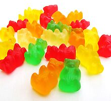 Brightly Coloured, Gummi Bears by Claire Gibbs