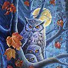 Harvest Moon Owls by katemccredie