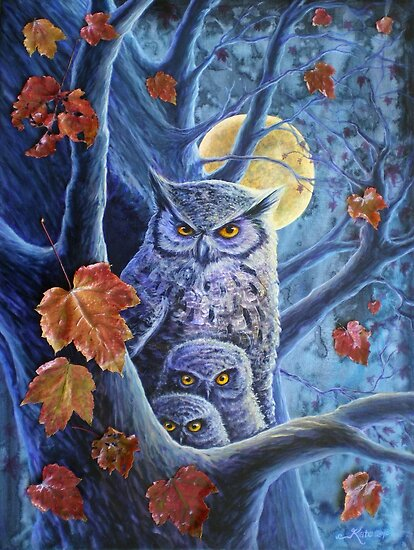Harvest Moon Owls by katemccredie