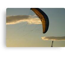 Crane, kite and clouds Canvas Print