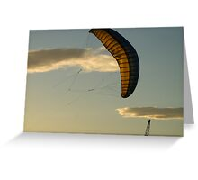 Crane, kite and clouds Greeting Card