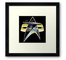 StarTrek Enterprise  Com badge Framed Print