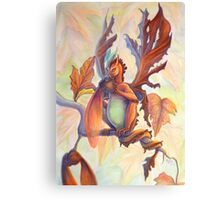 Maple Leaf Fairy Dragon Canvas Print