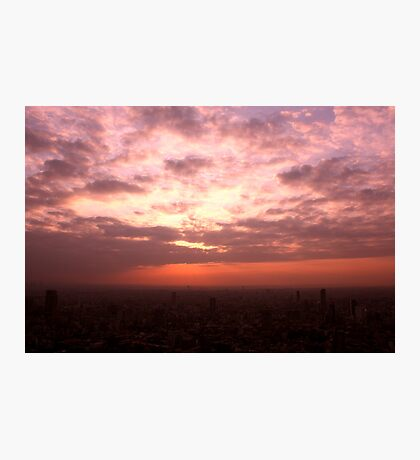 Western Sky over Tokyo Photographic Print