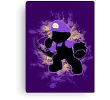 Super Smash Bros. Purple Mario Silhouette Canvas Print