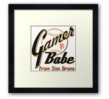 SF Giants Gamer Babe from San Bruno Framed Print
