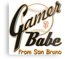 SF Giants Gamer Babe from San Bruno Metal Print