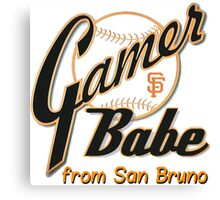 SF Giants Gamer Babe from San Bruno Canvas Print