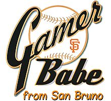 SF Giants Gamer Babe from San Bruno Photographic Print