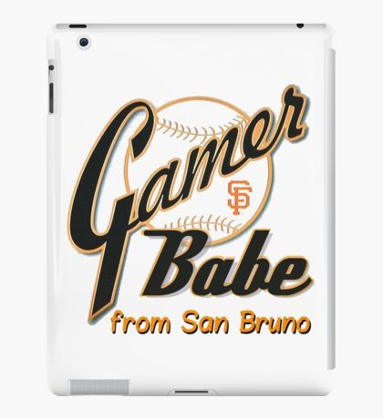 SF Giants Gamer Babe from San Bruno iPad Case/Skin