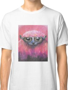 Pink Sheep Acrylic Color Painting Classic T-Shirt