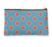 Watermelon Polka Dot on Light Blue Studio Pouch