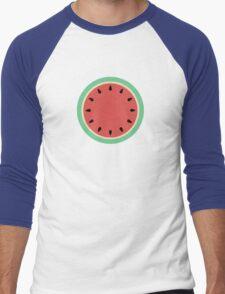 Watermelon Polka Dot on Light Blue Men's Baseball ¾ T-Shirt