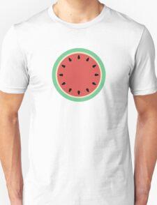 Watermelon Polka Dot on Light Blue Unisex T-Shirt