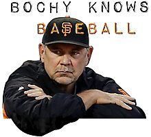 Bochy Knows Baseball  SF Giants Photographic Print
