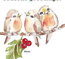3 Little Robins - Season's Greetings! by Maree Clarkson