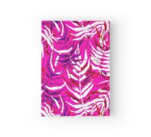 Pink floral print with watercolor palm leaves Hardcover Journal