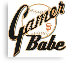 SF Giants Gamer Babe Canvas Print