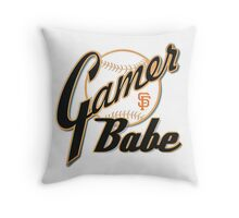 SF Giants Gamer Babe Throw Pillow