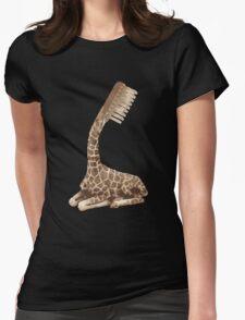 giraffe brush Womens Fitted T-Shirt