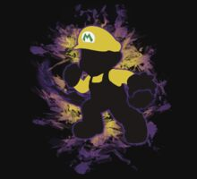 Super Smash Bros. Yellow/Wario Mario Silhouette Kids Tee