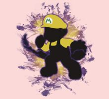 Super Smash Bros. Yellow/Wario Mario Silhouette Kids Tee