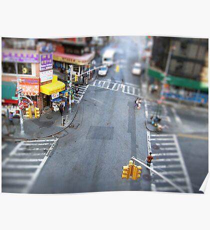 New York City Crossroad Miniature Poster