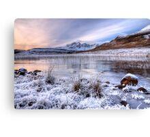 Blaven in Winter Light, Isle of Skye. Scotland. Canvas Print