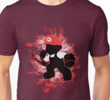 Super Smash Bros. White/Red Fire Mario Silhouette Unisex T-Shirt