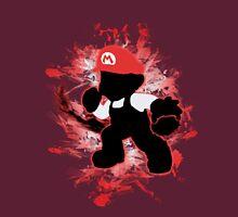 Super Smash Bros. White/Red Fire Mario Silhouette Unisex T-Shirt