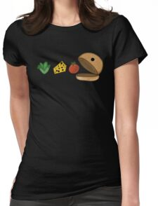 Burger Man Womens Fitted T-Shirt