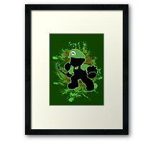 Super Smash Bros. Green Mario Silhouette Framed Print