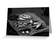 fish at markets Greeting Card