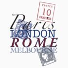 Paris to Melbourne Tee by johnsonwaters