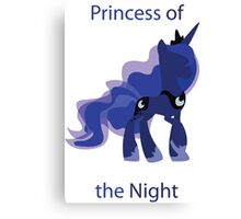 Luna Princess of the Night Canvas Print