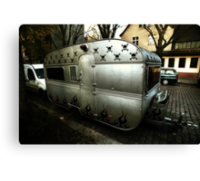 Trailer living, Berlin Canvas Print