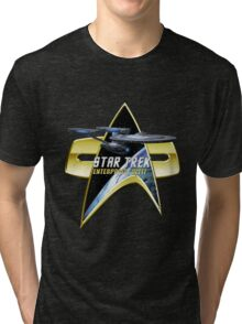 StarTrek  Enterprise Refit Com badge Tri-blend T-Shirt