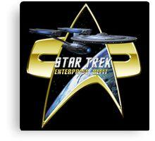 StarTrek  Enterprise Refit Com badge Canvas Print