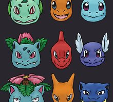 Kanto Starters by AngrySlowpoke