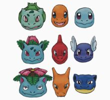 Kanto Starters Kids Clothes