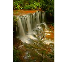 Lower Somersby Falls .. Portrait view Photographic Print