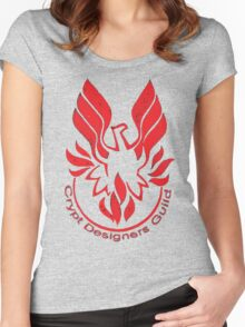 Crypt Designers Guild - Phoenix Red Women's Fitted Scoop T-Shirt