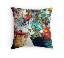 Colourful Corals Throw Pillow