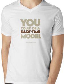 Part-time model Mens V-Neck T-Shirt