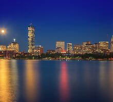 Boston's Blue Moon Skyline by Owed To Nature