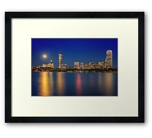 Boston's Blue Moon Skyline Framed Print